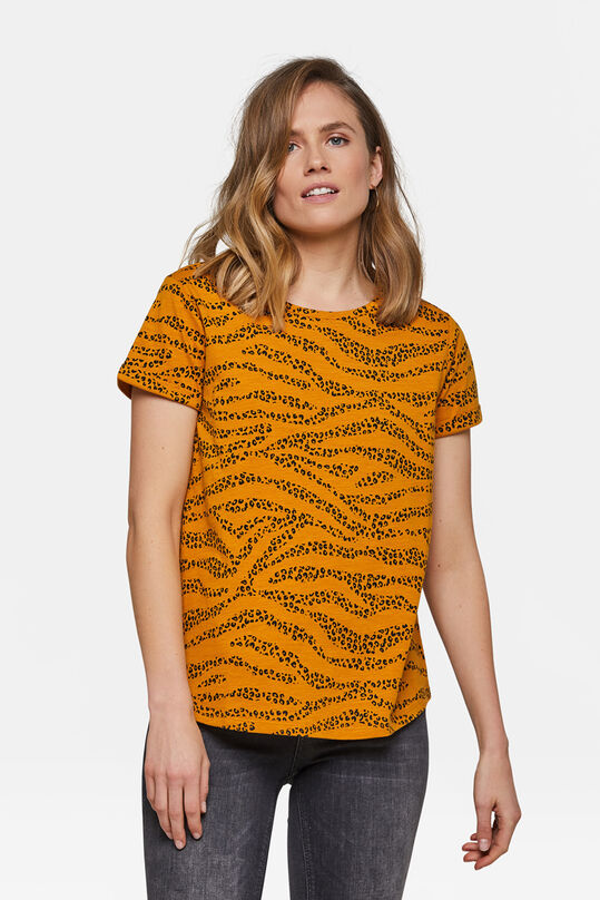 Damen-T-Shirt mit Leopardenmuster Orange