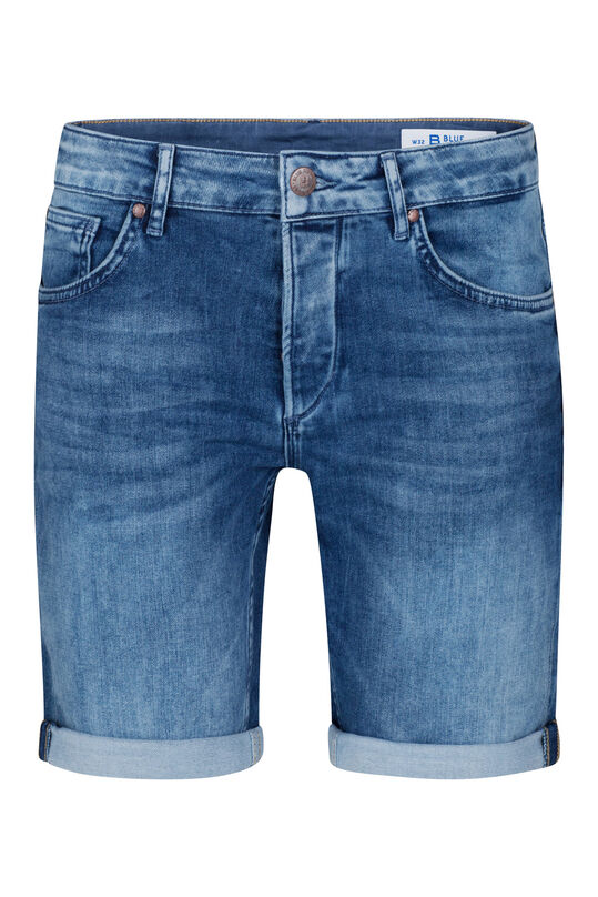 Herren-Regular-Fit-Shorts aus Jog-Denim Dunkelblau