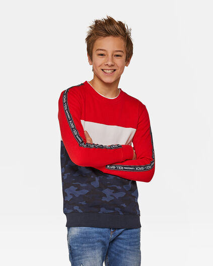 JUNGEN-SWEATSHIRT IN COLOURBLOCK-OPTIK Dunkelblau