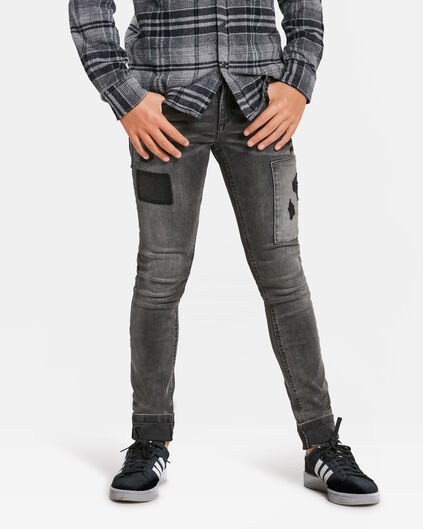 JUNGEN-SUPERSKINNY-STRETCH-JEANS Dunkelgrau