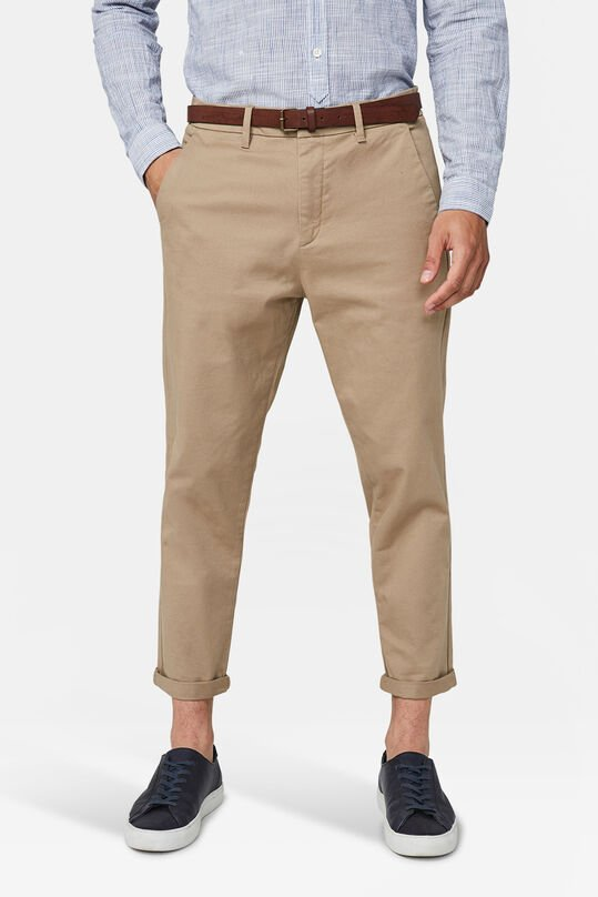 Herren-Loose-Fit-Chinos mit Tapered Leg Braun