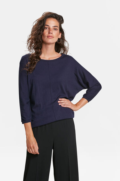 Damenpullover in oversized-Optik Blau