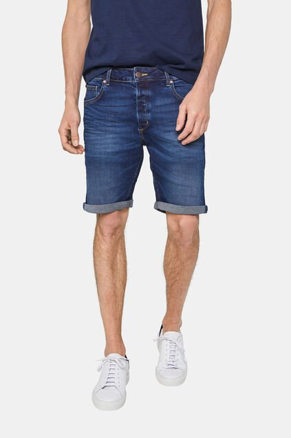 Herren-Regular-Fit-Jeansshorts Blau