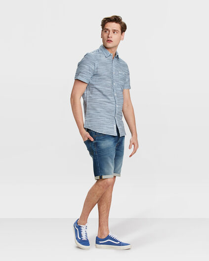HERREN-JOG-DENIM-SHORTS IM REGULAR-FIT Blau