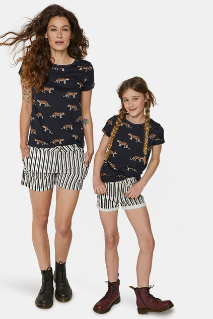 Mini me: T-Shirt mit Geparden-Print