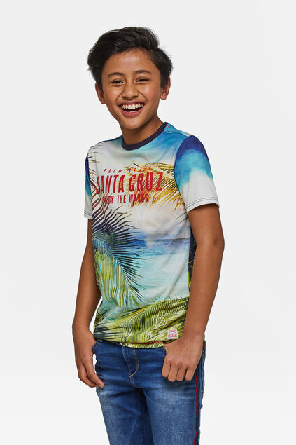 "Jungen-T-Shirt ""Palm Beach"" Blau"