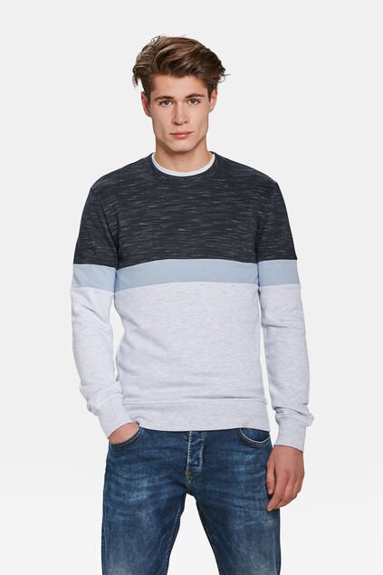 HERREN-SWEATSHIRT IN COLOURBLOCK-OPTIK Marineblau
