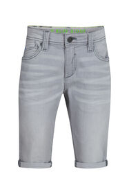 Jungen-Jog-Denim-Shorts mit Slim-Fit-Passform_Jungen-Jog-Denim-Shorts mit Slim-Fit-Passform, Hellgrau