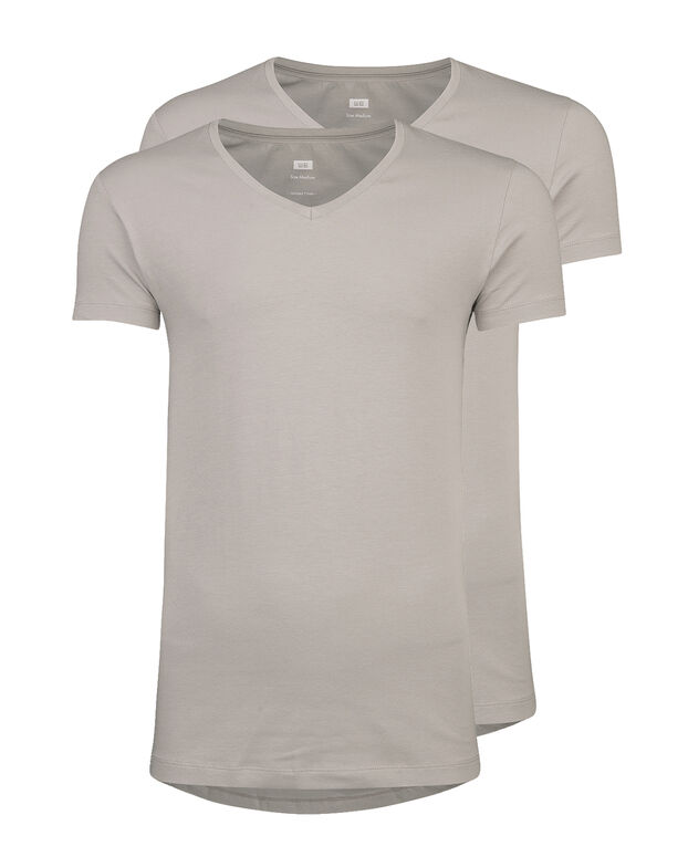 HERREN INVISIBLE T-SHIRT, 2ER-PACK Hellgrau