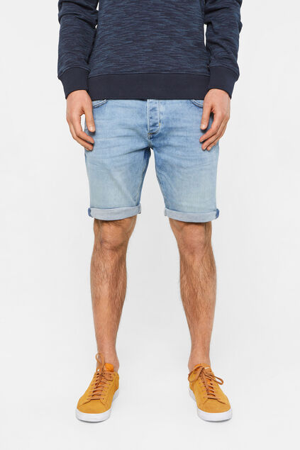 Herren-Regular-Fit-Jeansshorts Hellblau