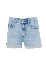 Damen-Shorts im Mom-Fit_Damen-Shorts im Mom-Fit, Hellblau