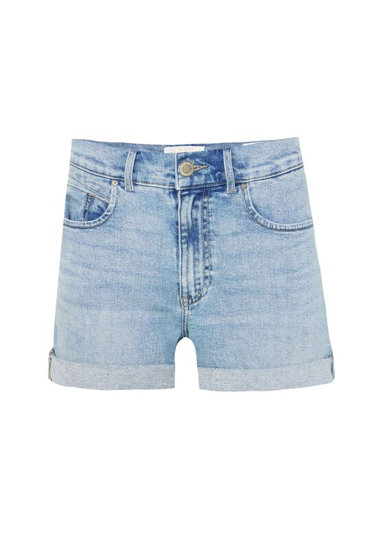 Damen-Shorts im Mom-Fit Hellblau