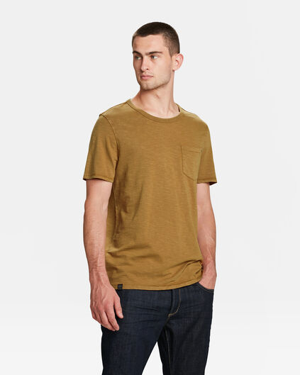HERREN-T-SHIRT IN GARMENT-DYE-OPTIK Beige