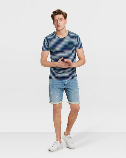 HERREN-JOG-DENIM-SHORTS IM REGULAR-FIT Hellblau