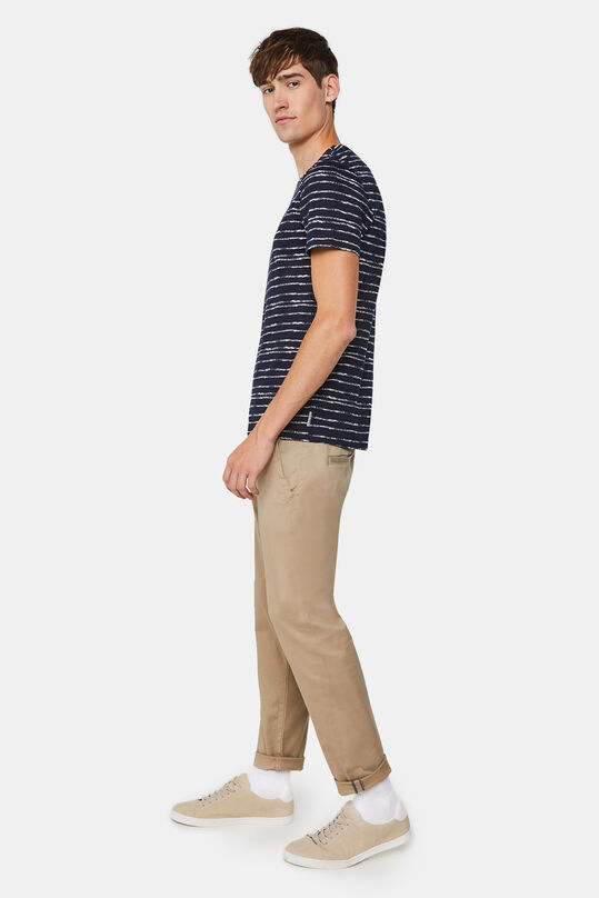 Herren-Slim-Fit-Chinos mit Stretch Beige