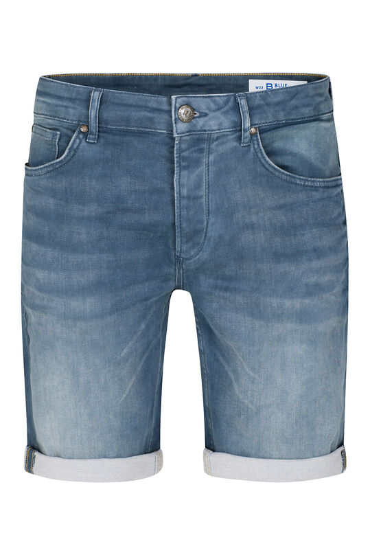 Herren-Regular-Fit-Shorts aus Jog-Denim Blau