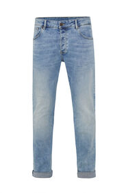 Herren-Tapered -Fit-Jeans mit Bleached-Waschung_Herren-Tapered -Fit-Jeans mit Bleached-Waschung, Hellblau