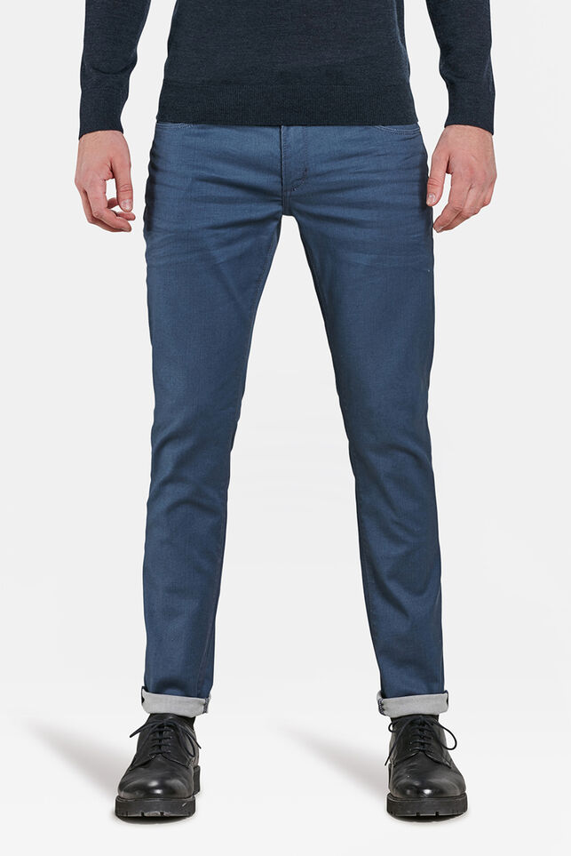 Herren-Superstretch-Jeans mit Tapered Leg Graublau