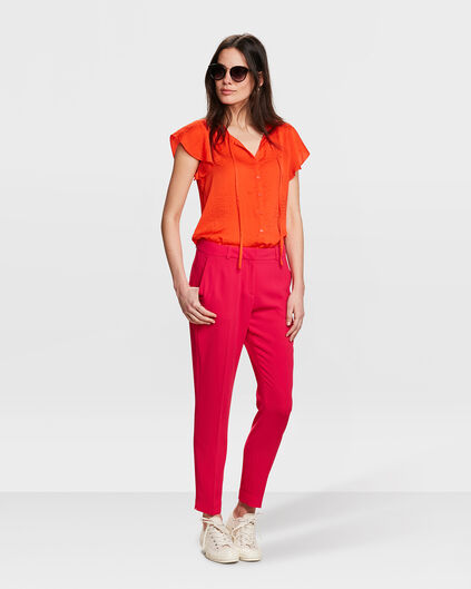 DAMEN-SLIM-FIT-HOSE Fuchsia