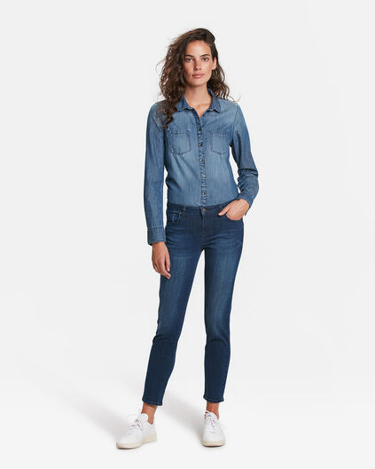 DAMEN-SLIM-FIT-JEANS AUS HIGH-STRETCH-DENIM Dunkelblau