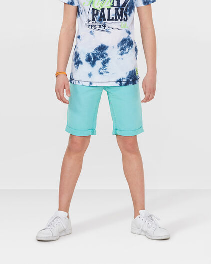 JUNGEN-REGULAR-FIT-GARMENT-DYE-SHORTS Mintgrün