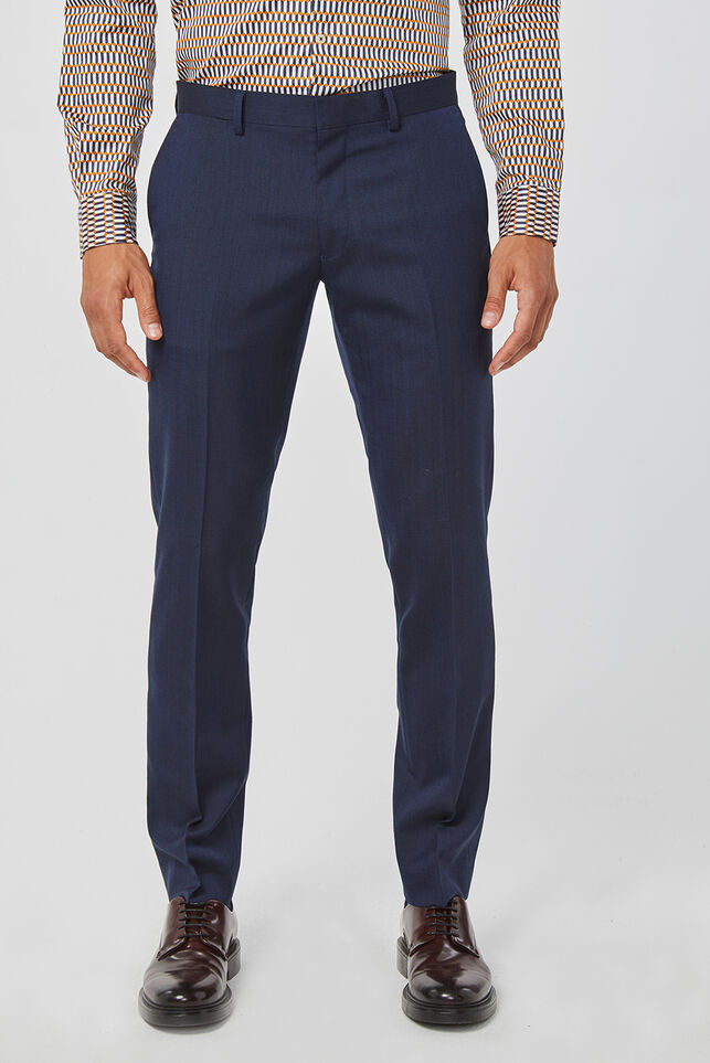 HERREN-SLIM-FIT-ANZUGHOSE TOM Marineblau