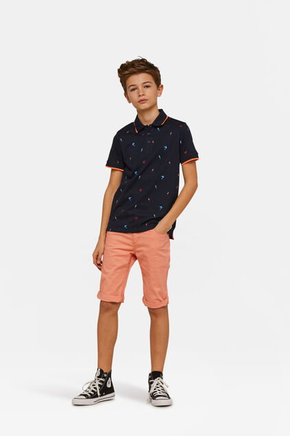Jungen-Slim-Fit-Shorts Orange