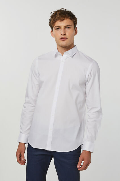 Herren-Regular-fit-hem mit stretchanteil Weiß