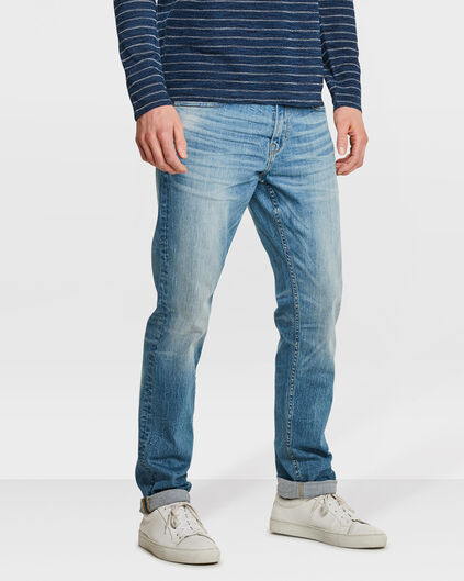 HERREN-REGULAR-STRAIGHT-COMFORT-STRETCH-JEANS Hellblau