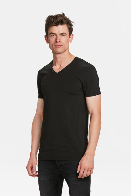 Herren-T-shirt tall Fit, 2er-pack Schwarz