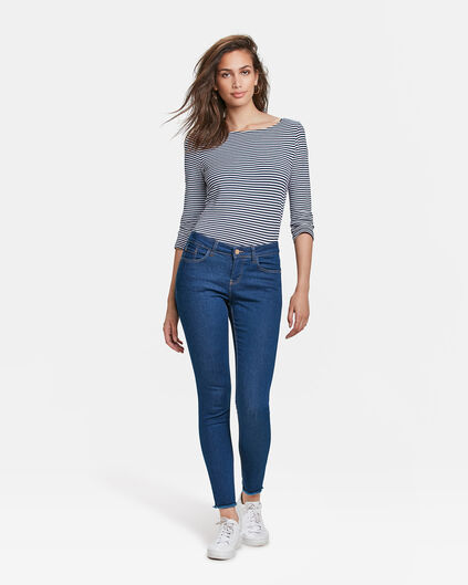 DAMEN-SUPERSKINNY-JEANS AUS HIGH-STRETCH-DENIM Blau
