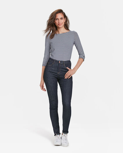 DAMEN-HIGH-RISE-SKINNY-HIGH-STRETCH-JEANS Dunkelblau