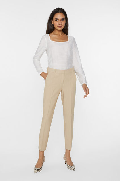 Damen-Slim-Fit-Hose Beige