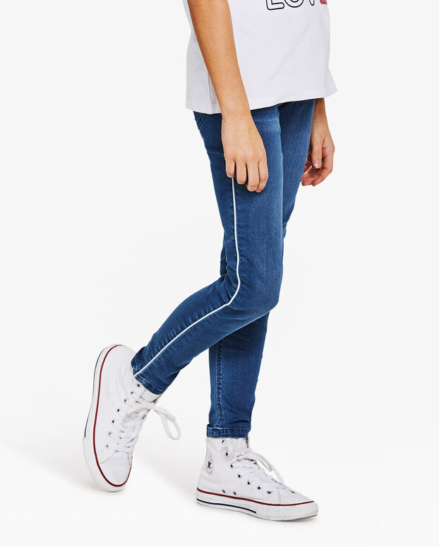 MÄDCHEN-SUPERSKINNY-JEGGINGS AUS POWERSTRETCH Blau