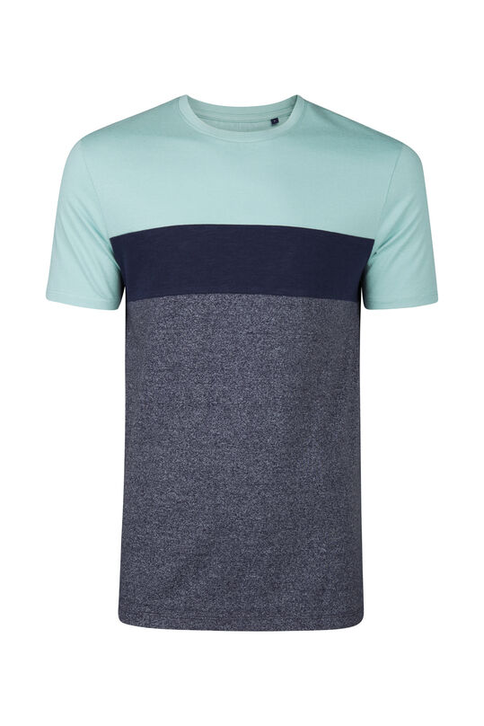 Herren-T-Shirt in colourblock-optik Hellblau