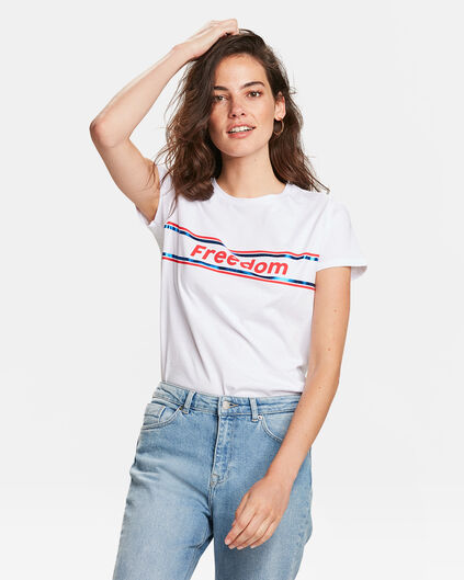 "DAMEN-T-SHIRT ""FREEDOM"" Weiß"