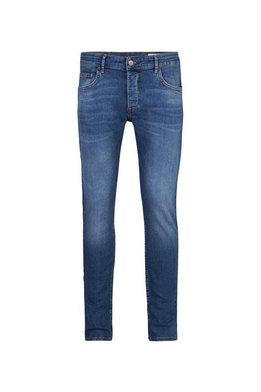 Herren-Slim-Fit-Jeans mit Tapered Leg Blau