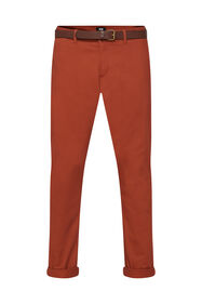 Herren-Slim-Fit-Chinos mit Taperd Leg_Herren-Slim-Fit-Chinos mit Taperd Leg, Rot