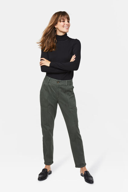 Damen-Regular-Fit-Cargohose Grün