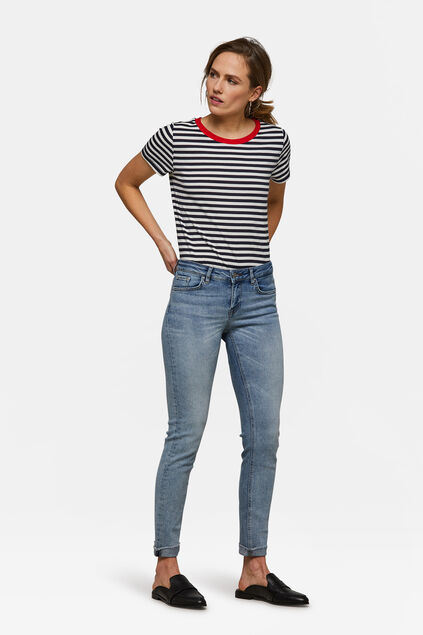 Damen-Skinny-Jeans aus Stretch-Denim Blau