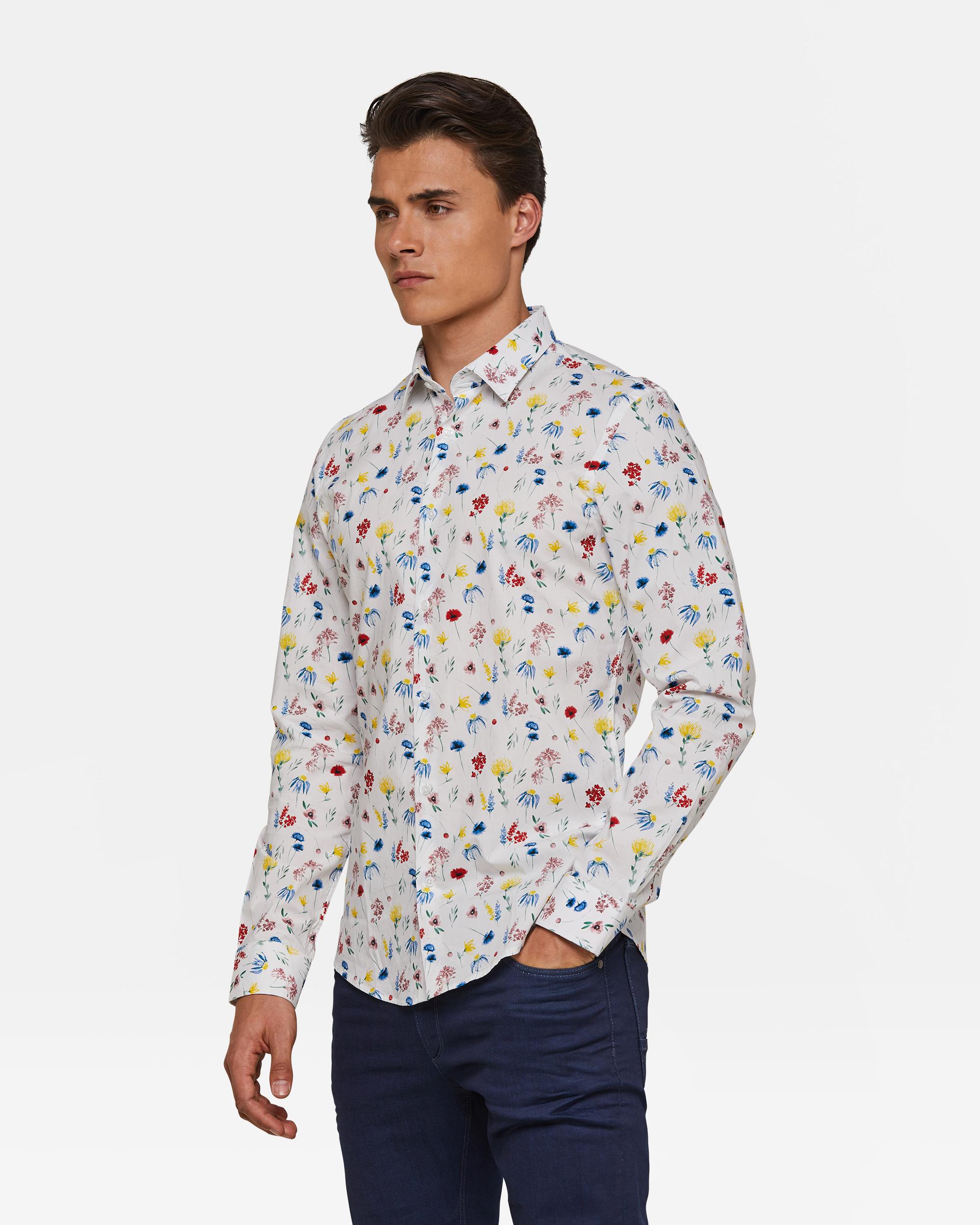buy online 43a5b 49bf4 Herren-Slim-Fit-Hemd mit Blumenmuster | 94394863 - WE Fashion