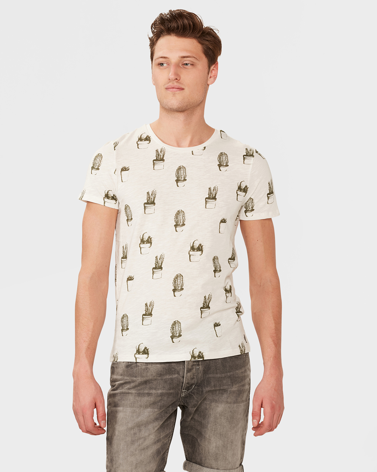 herren t shirt mit kaktus print 79869638 we fashion. Black Bedroom Furniture Sets. Home Design Ideas