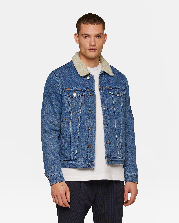 Jeansjacke mit Teddyfutter