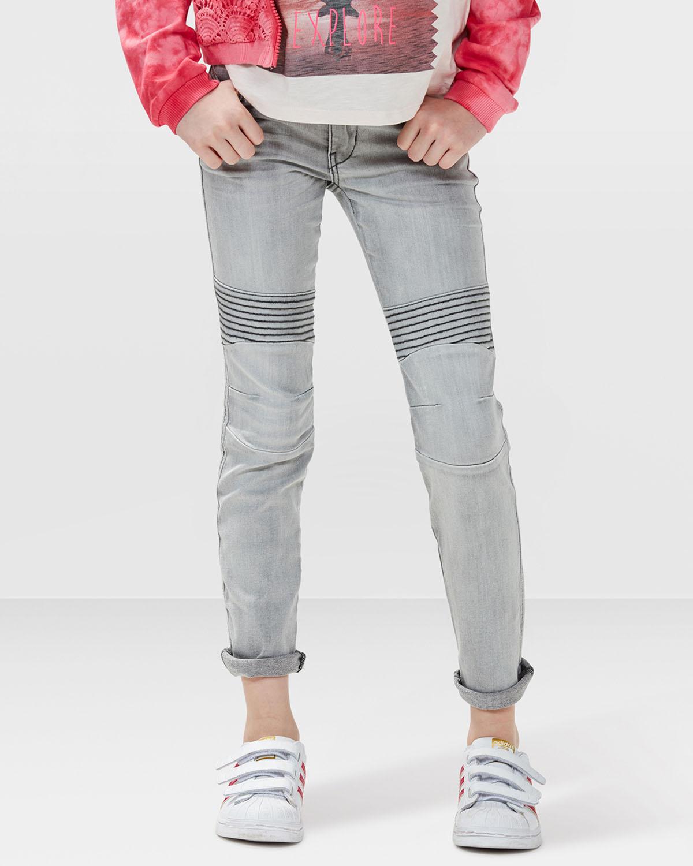 m dchen super skinny grey denim biker jeans 79024716. Black Bedroom Furniture Sets. Home Design Ideas