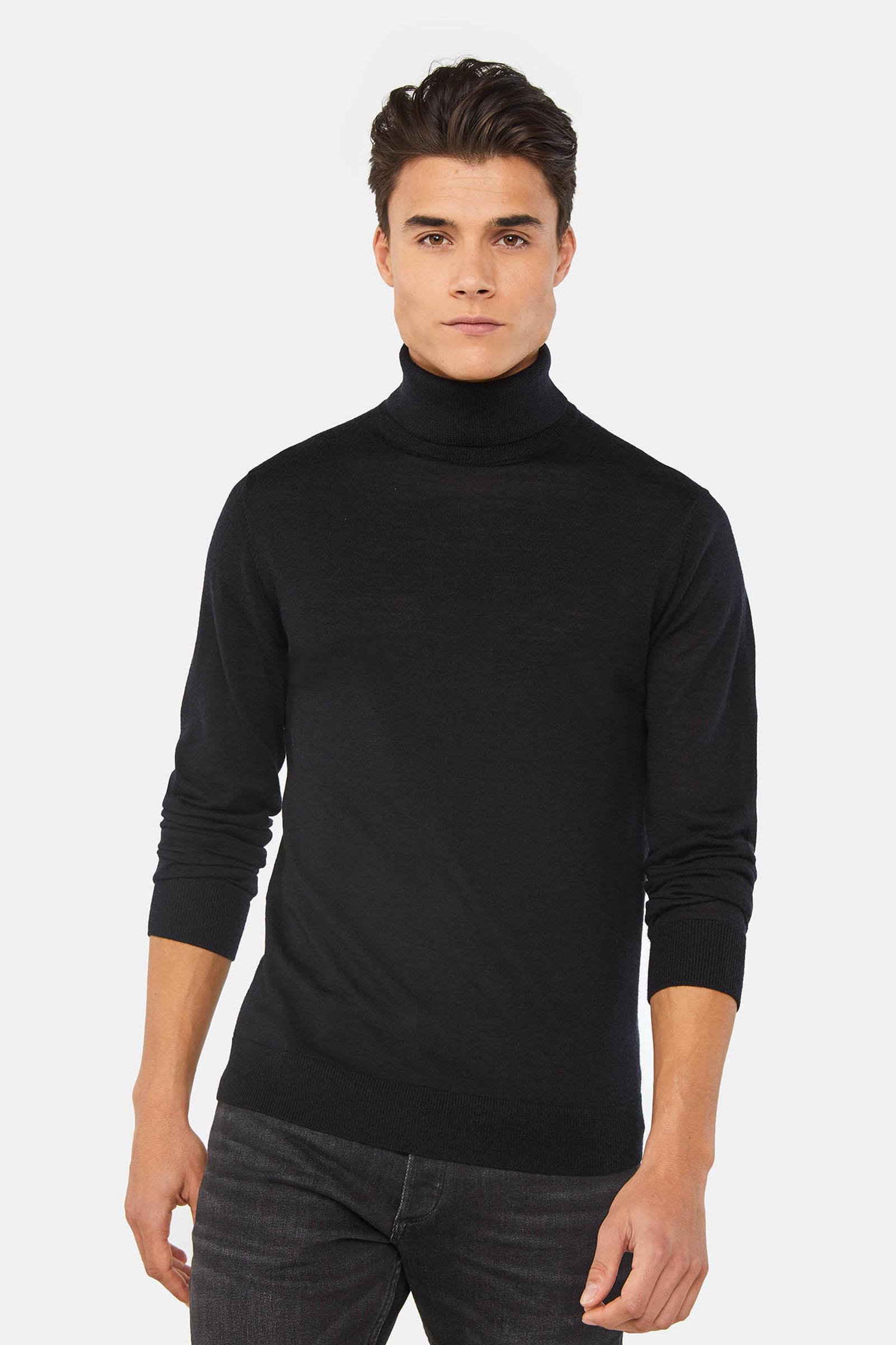 Herren Rollkragenpullover aus Merinowolle | 94996098 WE Fashion