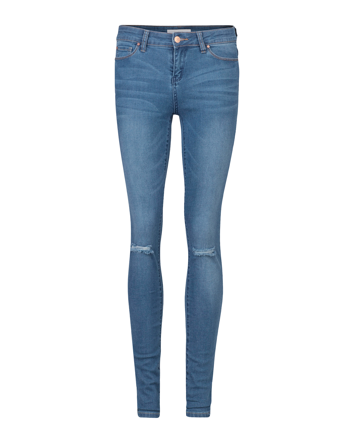 DAMEN MID RISE SUPER SKINNY RIPPED JEANS | 79333597 WE Fashion