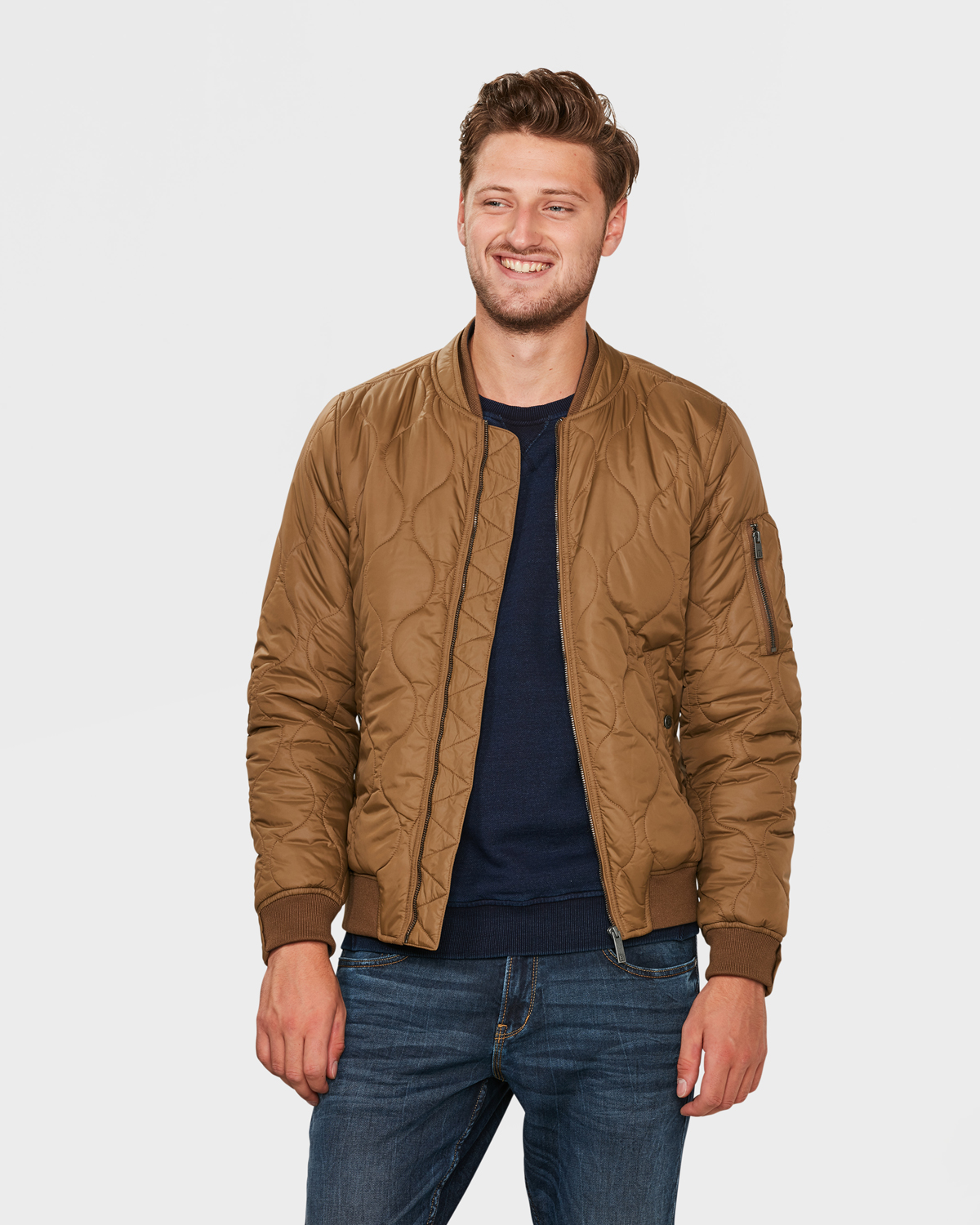 brand new 22daa bf90b HERREN-BOMBERJACKE MIT STEPPMUSTER | 79950374 - WE Fashion