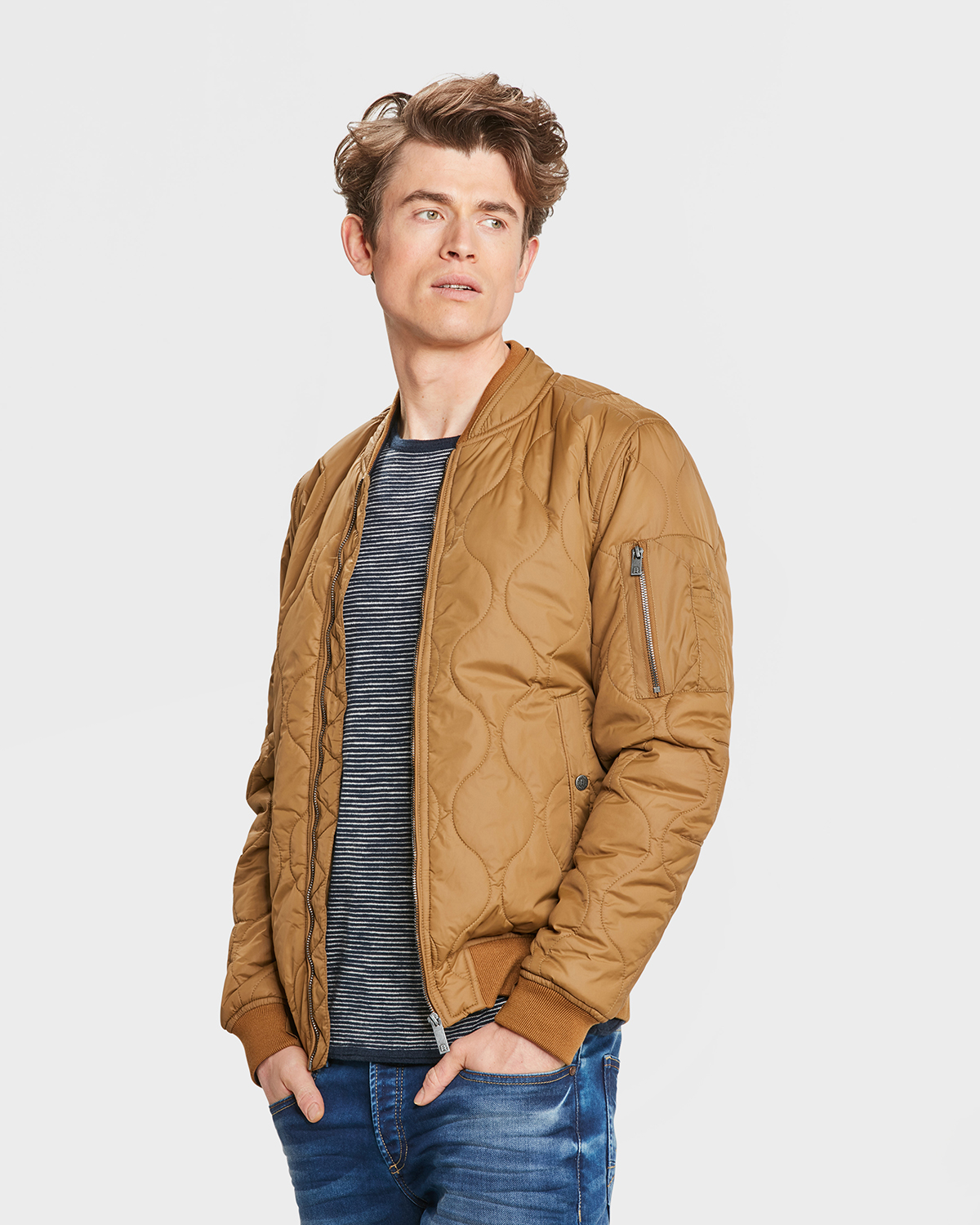 purchase cheap 10920 7e5e7 HERREN-BOMBERJACKE MIT STEPPMUSTER | 80498735 - WE Fashion