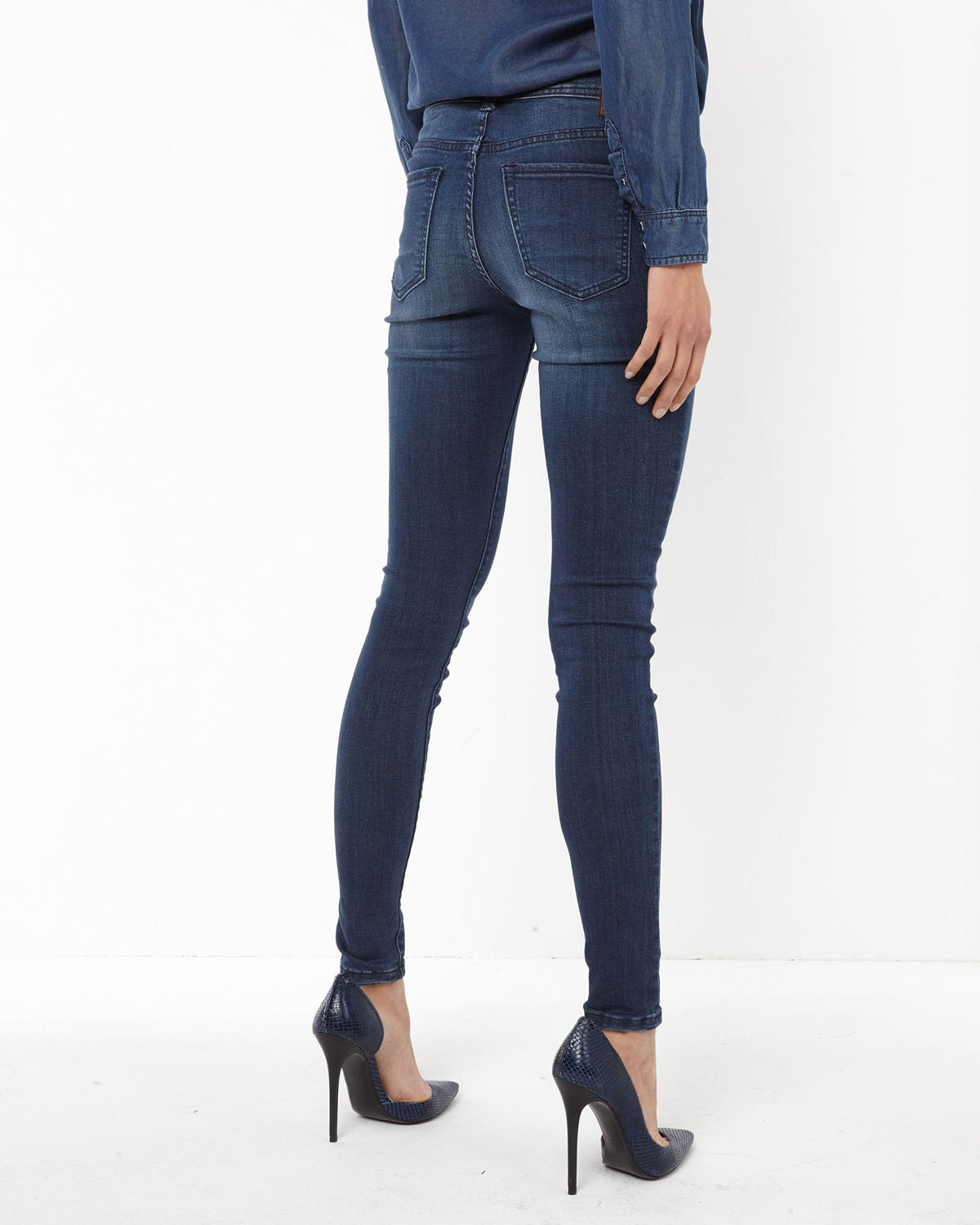 DAMEN MEDIUM RISE SUPER SKINNY JEANS | 78513068 WE Fashion