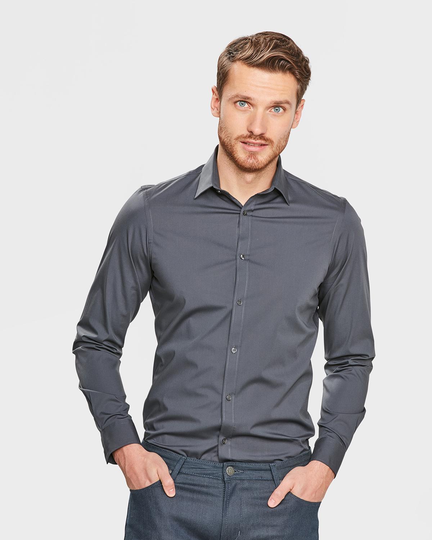 herren stretch hemd mit l ngerem schnitt 79874113 we fashion